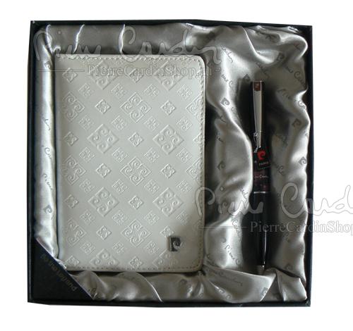 Подарочный набор: обложка для паспорта и ручка (артикул PS1138WH)